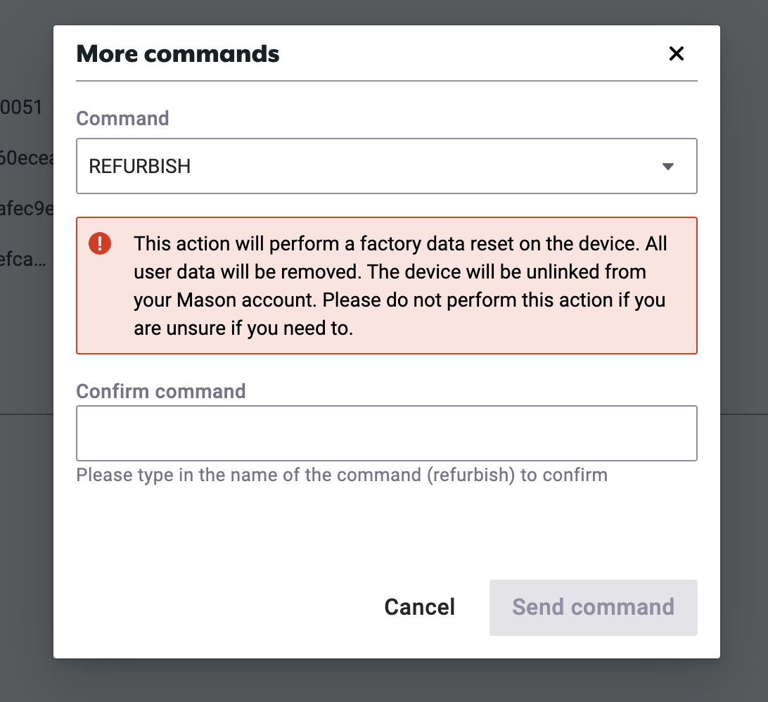 More Commands Modal